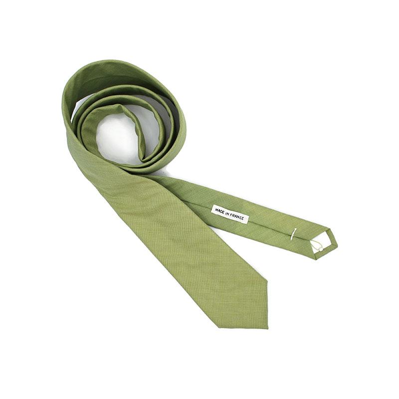 Voici la cravate Tendre sauge de la Brigade du Noeud.