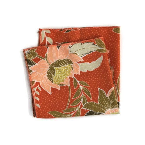 Voici la pochette de costume Envie de printemps - terracotta-de la Brigade du Noeud.